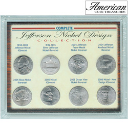 Complete Jefferson Nickel Design Collection&nbsp;&nbsp;Model#&nbsp;7048