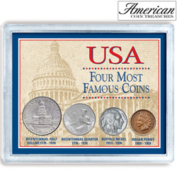 USA Four Most Famous Coins  Model# 7269