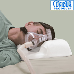 Contour CPAP Pillow with Velour Cover&nbsp;&nbsp;Model#&nbsp;14-101R-DS-730