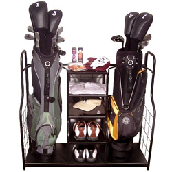 Double Golf Bag Organizer/Stand  Model# 457