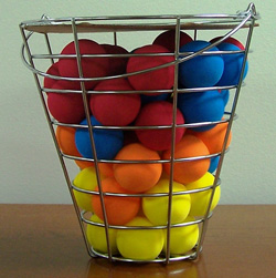 48 Piece Bucket of Foam Practice Balls  Model# JR416
