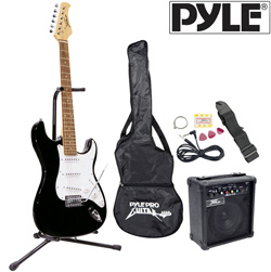 Electric Guitar Set-Black&nbsp;&nbsp;Model#&nbsp;PEGKT15B