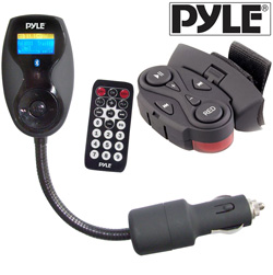Steering Wheel FM Transmitter  Model# PLFMTR9BT