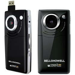 USB Slide-Out, Flip-Up Screen Digital Camera/Camcorder  Model# T200(BLK)