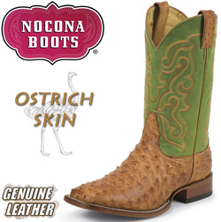 Cognac Vintage Green Full Quill Ostrich Boots&nbsp;&nbsp;Model#&nbsp;MD6502