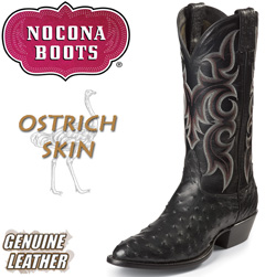 Black Full Quill Ostrich Boots  Model# MD8501