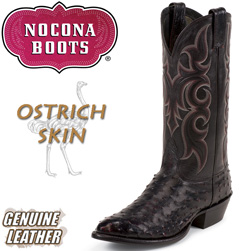 Black Cherry Full Quill Ostrich Boots  Model# MD8506