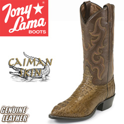 Tony Lama Green Caiman Boots  Model# CZ1024