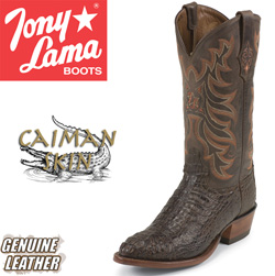 Tony Lama Chocolate Caiman Boots  Model# CZ1062