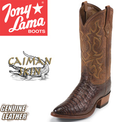Tony Lama Cognac Caiman Boots&nbsp;&nbsp;Model#&nbsp;CZ1052