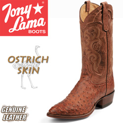 Tony Lama Cognac Ostrich Boots&nbsp;&nbsp;Model#&nbsp;CZ8963