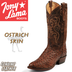 Tony Lama Chocolate Ostrich Boots  Model# CZ8965