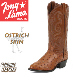 Tony Lama Peanut Brittle Full Quill Ostrich Boots  Model# CZ800