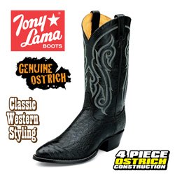 Black Ostrich Boots&nbsp;&nbsp;Model#&nbsp;CZ910