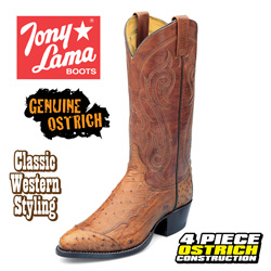 Brown Ostrich Boots  Model# CZ906