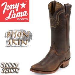 Tony Lama Bison Skin Boots  Model# CZ6980