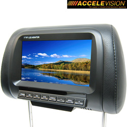 Dual 7 Inch LCD Headrest&nbsp;&nbsp;Model#&nbsp;THR700B