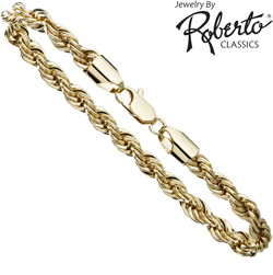French Rope 14K Gold Bracelet  Model# 2