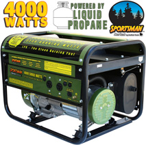 Buffalo Tools 4000 Watt LP Generator  Model# H07367L