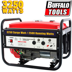 Buffalo Tools 3250 Watt Gas Generator  Model# H07526L