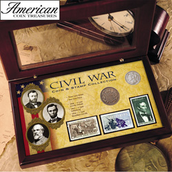 Civil War Coin & Stamp Collection Boxed Set  Model# 11165