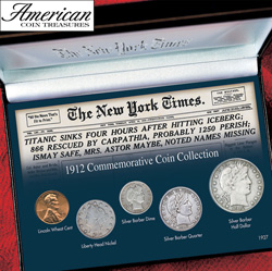 New York Times Titanic 1912 Commemorative Coin Collection&nbsp;&nbsp;Model#&nbsp;50040