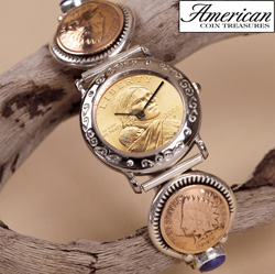 Sterling Silver Sacagawea Coin Cuff Watch&nbsp;&nbsp;Model#&nbsp;3236