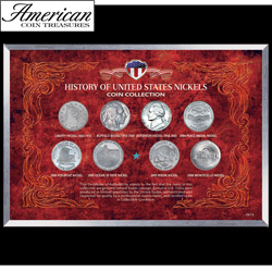 History of United States Nickels Coin Collection  Model# 616