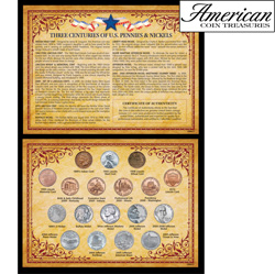 Three Centuries of U.S. Pennies & Nickels  Model# 1990