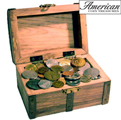 Treasure Chest of 50 Foreign Coins&nbsp;&nbsp;Model#&nbsp;7227