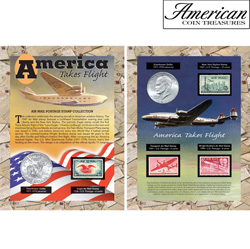 America Takes Flight Coin &amp; Stamp Collection&nbsp;&nbsp;Model#&nbsp;194