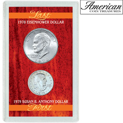 Last Eisenhower Dollar &amp; First Susan B. Anthony Dollar&nbsp;&nbsp;Model#&nbsp;1632