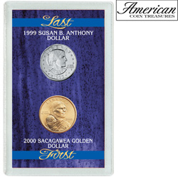 Last Susan B. Anthony Dollar & First Sacagawea Dollar  Model# 1633