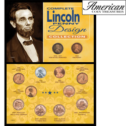 Complete Lincoln Penny Design Collection&nbsp;&nbsp;Model#&nbsp;11085