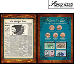 New York Times Civil War Coin &amp; Stamp Collection&nbsp;&nbsp;Model#&nbsp;50009