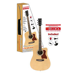 Full Size Cutaway Acoustic Guitar Pack  Model# AIL 129