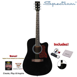 Full Size Acoustic Guitar Pack  Model# AIL 128