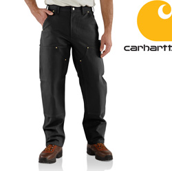 Carhartt Double-Front Work Dungaree - Black&nbsp;&nbsp;Model#&nbsp;B01