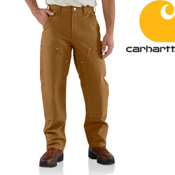 Carhartt Double-Front Work Dungaree - Brown&nbsp;&nbsp;Model#&nbsp;B01