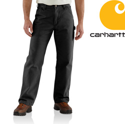 Carhartt Washed Duck Work Dungaree - Black&nbsp;&nbsp;Model#&nbsp;B11