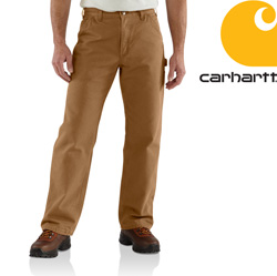 Carhartt Washed Duck Work Dungaree - Brown&nbsp;&nbsp;Model#&nbsp;B11
