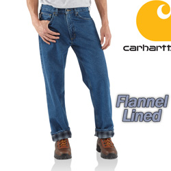 Carhartt Relaxed Fit Flannel Lined Jean&nbsp;&nbsp;Model#&nbsp;B172