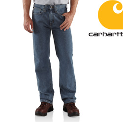 Carhartt® Relaxed Fit Straight Leg Jean - Deep Stone  Model# B460