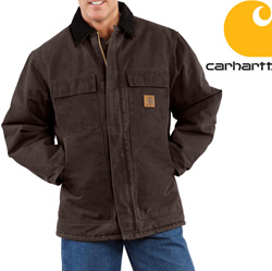 Carhartt Sandstone Arctic Coat - Dark Brown&nbsp;&nbsp;Model#&nbsp;C26