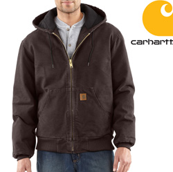 Carhartt Duck Active Jacket - Dark Brown&nbsp;&nbsp;Model#&nbsp;J130
