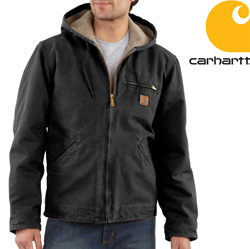 Carhartt® Sherpa Lined Sierra Jacket - Black  Model# J141