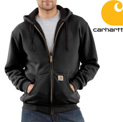 Carhartt® Zip Front Hooded Sweatshirt - Black  Model# J149