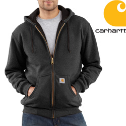 Carhartt® Zip Front Hooded Sweatshirt - Charcoal Heather  Model# J149