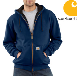 Carhartt Zip Front Hooded Sweatshirt - Navy&nbsp;&nbsp;Model#&nbsp;J149