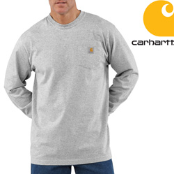 Carhartt Long-Sleeve Workwear Shirt - Heather Gray&nbsp;&nbsp;Model#&nbsp;K126